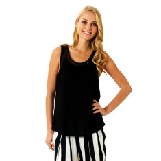 Ray of Sunshine Tank Black