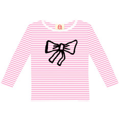 Bow / kids long sleeve t-shirt