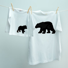 Matching Papa Bear & Baby Bear t-shirt twinset set for dad & son or daughter