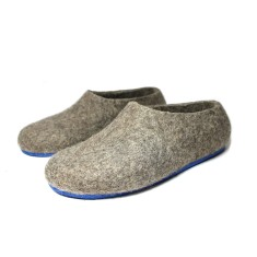 Men's Eco Wool Slippers In Blue Whale
