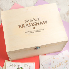 Personalised 'Mr And Mrs' Wedding Memento Box