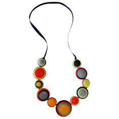 Sahara disc resin necklace