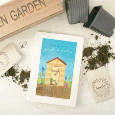 Personalised gardening notebook