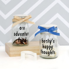 Personalised Fill Me Up Happy Thoughts Jar