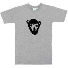 Monkey with beard men's t-shirt