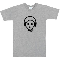 Skull & headphones men's t-shirt