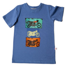 Three motorbikes for bigger boys t-shirt