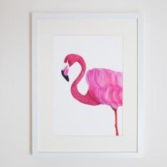 Florence the Flamingo print