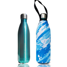 Stainless steel 750ml future bottle with wash print carry cover