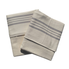 Turkish towel double sided in natural and stone (set of 2)