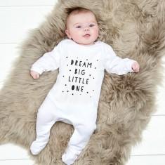 Dream big little one baby bodysuit