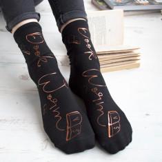 Book Worm Personalised Socks