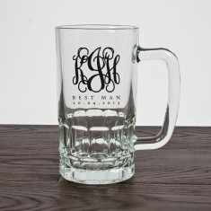 Monogrammed Best Man or Groomsman Tankard