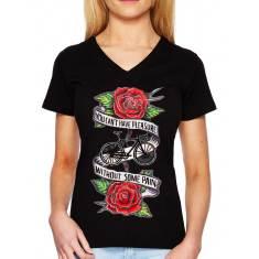 Pleasure and pain women's t-shirt