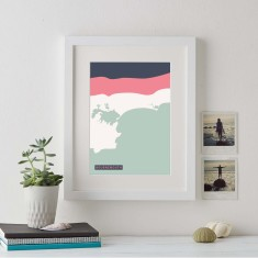 Abstract Coastline Personalised Print