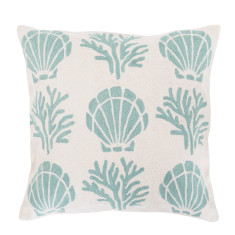 She sells sea shells hand loomed woollen cushion cover