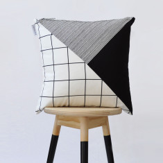 Flag colourblock cushion cover
