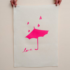 Umbrella love tea towel