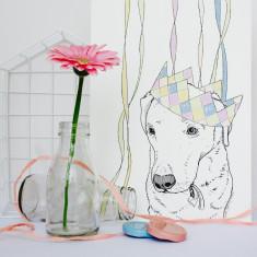 Labrador Party Animal Print
