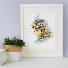 Einstein quote supreme art of the teacher watercolour print