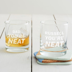 Personalised 'You're Neat' Tumbler Glass