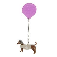 Erstwilder up dog brooch