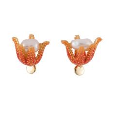 Pearl Inside Coral Earrings