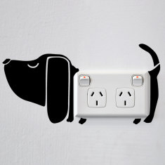 Dog wall sticker for power points