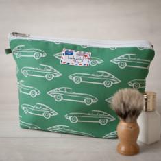 Vintage E-type Jaguar Toiletry Wash Bag
