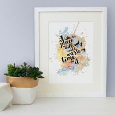 Housewarming Shakespeare I like this place quote watercolour print
