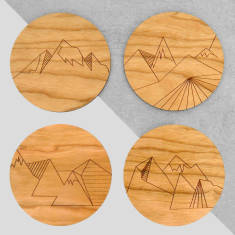 Geometric Mountain Range Coasters (set of 4)