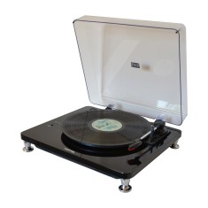 HolySmoke Vinyl Record Turntable - Gordon In Black