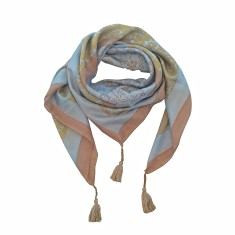 Estelle silk scarf with tassels