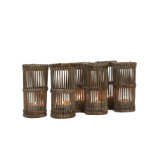 Hemingway tealight lanterns set of 6 in greywash