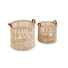 Hemingway watercane round baskets set of 2