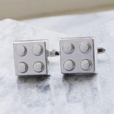 Building block stainless steel cufflinks