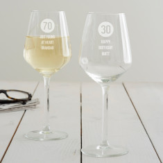 Personalised Special Age Birthday Wine Glass For Him