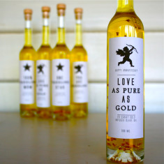 Anniversary love as pure as gold 23 carat oil