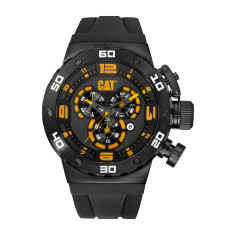 CAT DS-49 series watch in Gun Metal Stainless Steel with Black Silicon band plus FREE GIFT