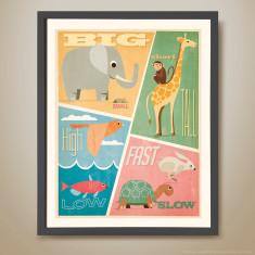 Big, small, short, tall retro kids' print