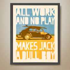 All work and no play retro kids' print