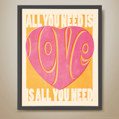 All you need is love retro kids' print