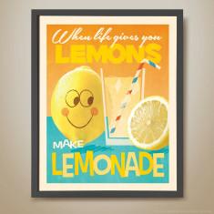 Lemons make lemonade retro kids' print