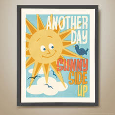 Another day sunny side up retro kids' print