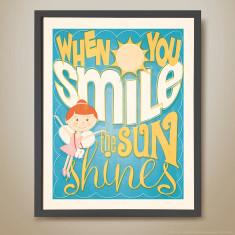 When you smile retro-inspired kids' print