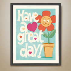 Have a great day retro-inspired kids' print
