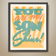 You are my son shine retro-inspired kids' print