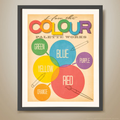 How the colour palette works retro kids' print