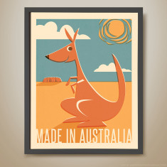 Made in Australia retro kids' print