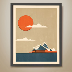 Sydney opera house print (various colours)